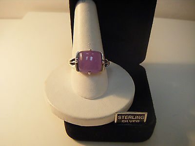New-Lavender Jade Ring Sterling Silver Size 10.25-Boxed