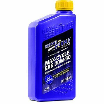 Royal Purple 01316 20W50 Max-Cycle Synthetic Motorcycle Engine Oil 1-Quart