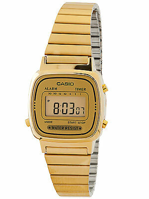 Casio #LA670WGA-9 Women's Gold Tone Chronograph Alarm LCD Digital Watch