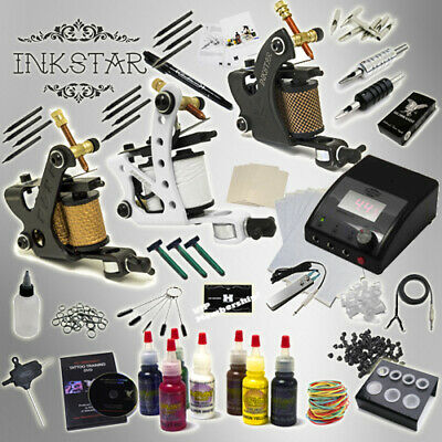 Complete Tattoo Kit Professional Inkstar 3 Machine APPRENTICE Set GUN Radiant 7