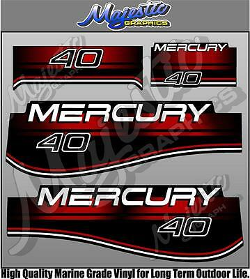 MERCURY 40hp - DECAL SET - OUTBOARD DECALS