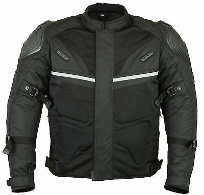 Motorcycle Motorbike Extra Protection Sporty Jacket Textile Air Mesh CE Armoured
