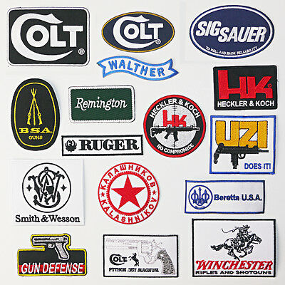 GUNS / FIREARMS GUN PATCH COLLECTION - Great Quality, UK Stock, Fast & Free Post
