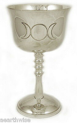 TRIPLE MOON CHALICE - Wicca Pagan Witch Goth Ritual GODDESS CHALICE