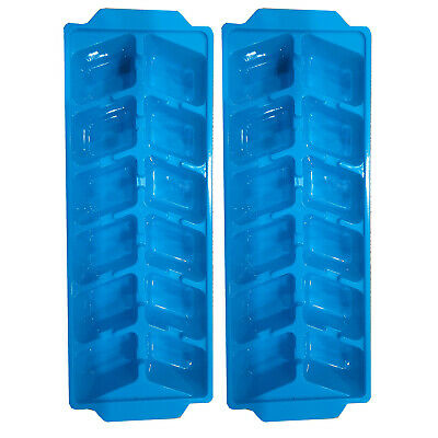 3 x Clear Plastic Ice Cube Maker Tray (Total of 42 Cubes)