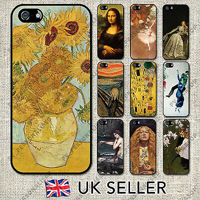 Classic Paintings Art Hard Phone Case Cover For Apple Iphone & Samsung Galaxy