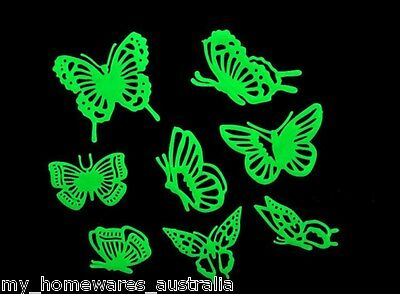 Glow in the Dark Butterfly Ceiling Set - Set of 8 Glow in the Dark Butterflies
