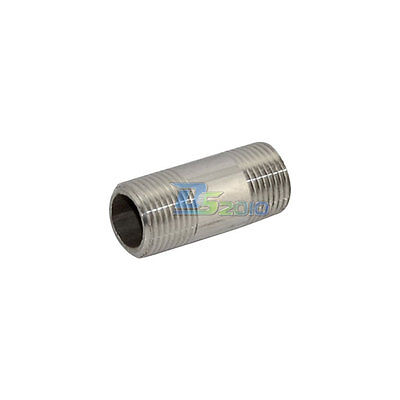 """3/8"""" Male x  3/8""""Male Threaded Pipe Fitting Stainless Steel SS304 BSP INTER"""