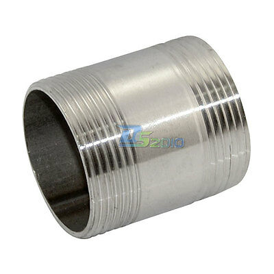 """1-1/2"""" Male x 1-1/2"""" Male Threaded Pipe Fitting Stainless Steel SS304 BSP INTER"""