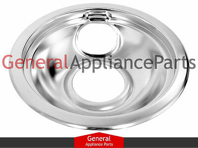 "GE General Electric Stove Range Cooktop 6"" Burner Chrome Drip Bowl WB32X10017"