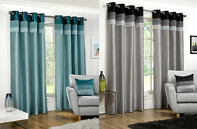Seattle Eyelet/Ring Top Lined Curtain Pairs By Hamilton McBride- 4 Great Colours