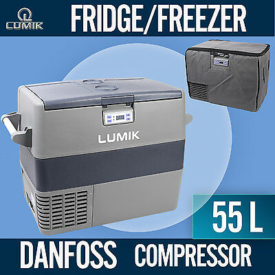 55L LUMIK Portable Freezer Fridge 12V/24V/240V  Camping Car Boat Caravan  Cooler