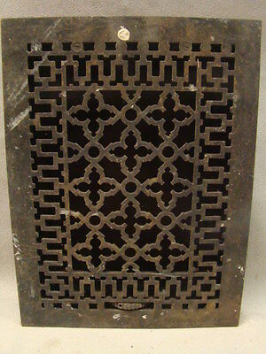 Antique Late 1800's Cast Iron Heating Grate Unique Ornate Design 15.75 X 12 D