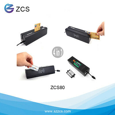 ZCS80 4-in-1 Magnetic Reader&Writer IC RFID PSAM only for APDU professional User