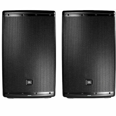 Pair of JBL EON 615 15 inch Powered Active 500W PA Speakers with Blutooth