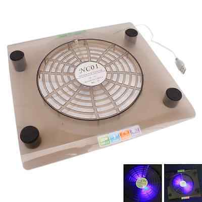 """New USB Cooling Big Fan LED Light Cooler Pad for Laptop 14.1""""-15.4"""" PC Notebook"""