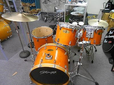 Stagg Jia 5 Pc. Maple Drumset With Hardware and Cymbals #5672