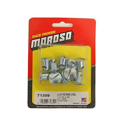 "Moroso Quick Fasteners Fastener Head Oval Slotted Cadmium Plated 0.450"" Shank L"