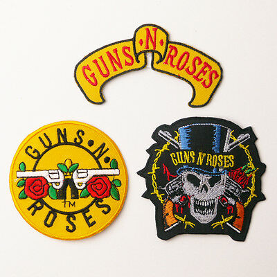GUNS N' ROSES - Embroidered Iron-On Patches - UK - FREE POST