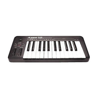Alesis Q25 USB Midi Keyboard Controller + Software for MAC and PC New