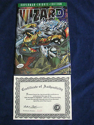 Dan Jurgens Autographed 1St Edition Wizard Superman Tribute Special Gold Edition