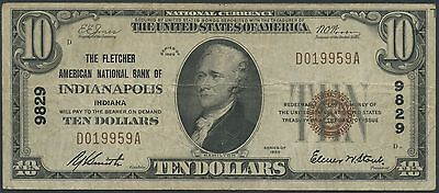 Fr1801-1 Indiana $10 1929 Series National Currency Br9548