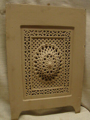 Antique Late 1800's Cast Iron Ornate Fireplace Cover Very Ornate Design C