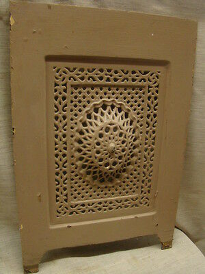 Antique Late 1800's Cast Iron Ornate Fireplace Cover Very Ornate Design D