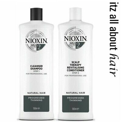 Nioxin System 2 Cleanser Shampoo and Scalp Revitaliser Conditioner 1L Duo 2017