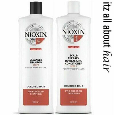Nioxin System 4 Cleanser Shampoo and Scalp Revitaliser Conditioner 1 Litre Duo