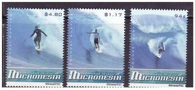 Micronesia - Surfing - Mint Set of 3 Stamps MNH MIC0816