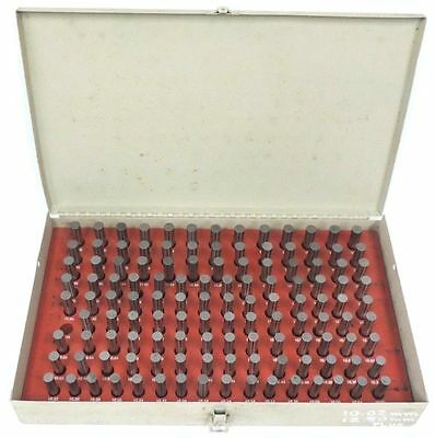 MICRON PIN GAGE SET 10.02-12.50 PLUS TYPE 10.02mm 12.50mm 124 OF 125 PIECES