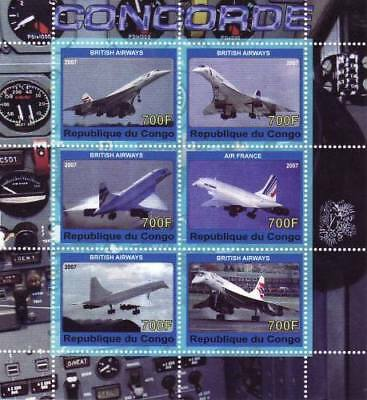 Concorde Airplane On Stamps - Mint Sheet of 6 - SV0028