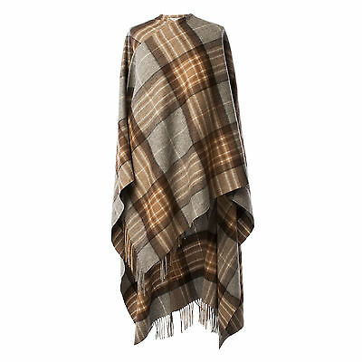 EDINBURGH LAMBSWOOL 100% Luxury Lambswool Ladies Cape Tartan MacKellar