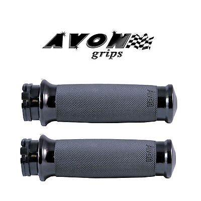 Avon Custom Contour Black Motorcycle Grips Fly By Wire Dyna Ultra Road Glide