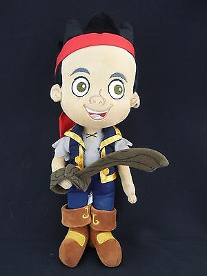 "Disney Store Jake and the Never Land Pirates JAKE --14"" H Plush Toy Doll"