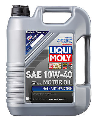Liqui Moly MoS2 Anti-Friction Semi-synthetic Engine Oil SAE 10W-40 5L 2043