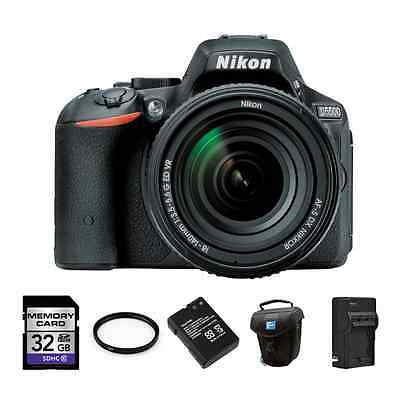 Nikon D5500 DSLR Camera w/18-140mm Lens + 2 Batteries, 32GB & More