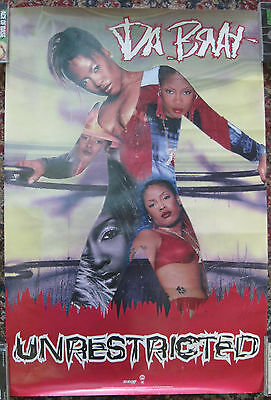 DA BRAT Unrestricted, 2-sided promotional poster, So So Def, 2000, 24x36, VG