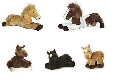 New Aurora Plush Flopsies Horse Cuddly Soft Foal Toy Pony Teddy