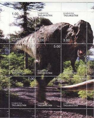 Dinosaurs on Stamps - 9 Stamp  Sheet  - 20A-076