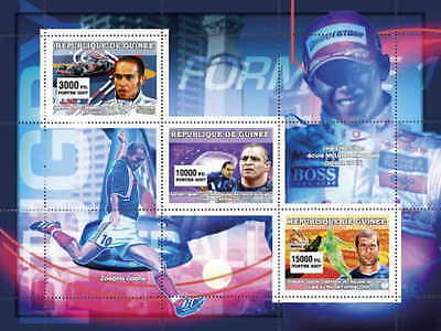 Guinea - Sports On Stamps -  Sheet of 3 - 7B-194