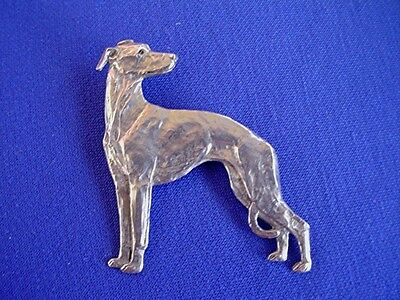 Whippet Greyhound LOOKING BACK #11E Pewter DOG JEWELRY by Cindy A. Conter