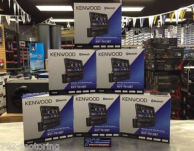 Kenwood 2015 Model Kvt-7012Bt / Flip Out / Electronic Screen /  Hdmi + Mhl + Bt