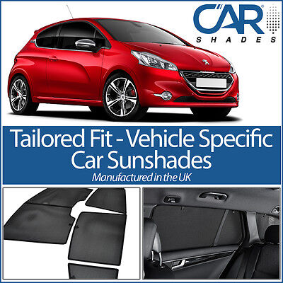 Peugeot 208 3dr 12 On UV CAR SHADES WINDOW SUN BLINDS PRIVACY GLASS TINT BLACK