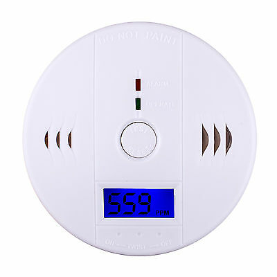 New LCD CO Carbon Monoxide Fire Poisoning Gas Sensor Warning Alarm Detector Home