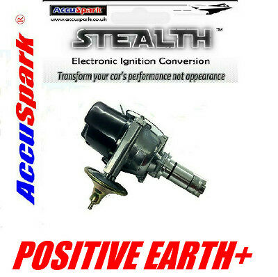 Morris Minor AccuSpark 25D electronic distributor for Positive Earth + Coil
