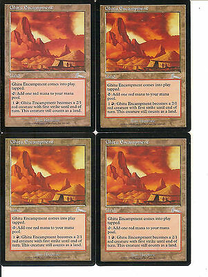 mtg Magic 4x Ghitu Encampment ( Campamento ghitu )  English  EXCELLENT+