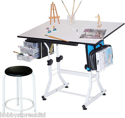 A1 Adjustable Drawing Board & Stool Technical Drawing Board Artist Table Easel