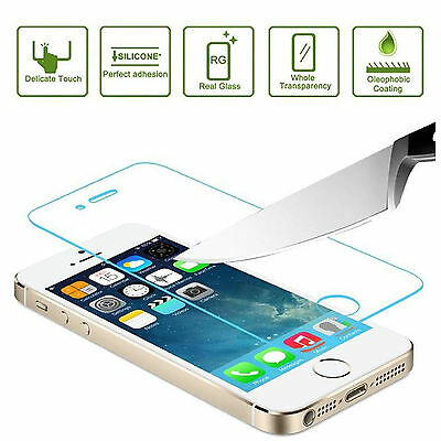 New Tempered Glass for Apple iPhone 5 Film Screen Protector 100% Genuine Premium
